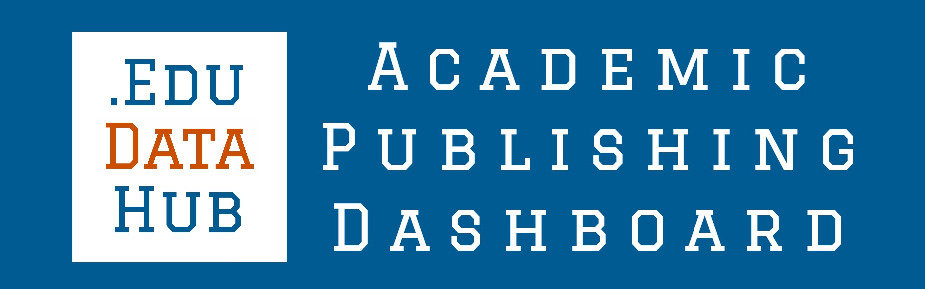 EduDataHub Academic Publishing Dashboard